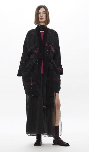 Kimono interamente tessuto a mano