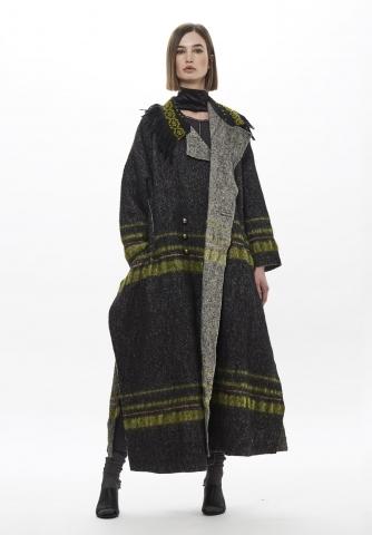 Cappotto Cangiari tessuto al telaio a mano