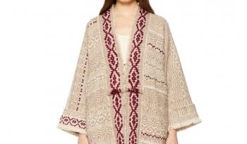 CANGIARI Kimono Peonia Coat